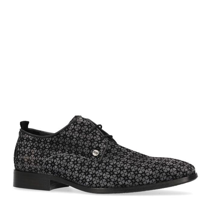 REHAB Greg velvet Chaussures à lacets - noir
