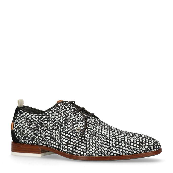 REHAB Chaussures à lacets Greg dots - noir