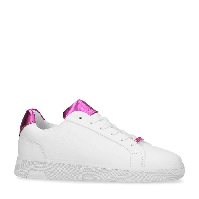 Sneaker in Weiß und Fuchsia