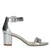 Minimal-Sandalen metallic-silber
