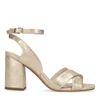 Sandales textile à talon métallisées - doré