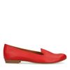 Loafers en cuir - rouge