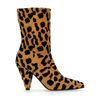 Kurze Stiefel mit Leopardenmuster und Absatz