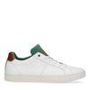 Witte lage sneakers met groen detail