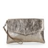 Bronzefarbene Metallic-Clutch