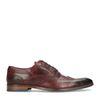 Chaussures à lacets en cuir avec imprimé serpent - bordeaux