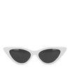 Witte cat-eye zonnebril