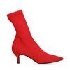 Bottines-chaussettes textile avec petit talon - rouge