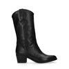 Bottes style western en cuir - noir