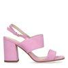Roze sandalen met blokhak