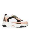 Weiße Dad-Sneaker mit rosafarbenen Details