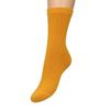Ockergelbe Ripp-Socken