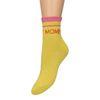 Gele glitter sokken