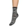 Graue Glitzer-Socken mit Zebramuster