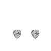 Boucles d'oreille cœurs - argenté