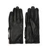 Schwarze Leder-Handschuhe mit Reißverschluss
