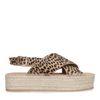 Plateausandalen mit Leopardenmuster