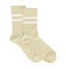 Gelbe Glitzer-Socken mit Streifen