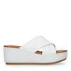 Sandales en cuir avec semelle plateforme - blanc