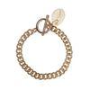 Bracelet maillons avec coquillage - doré