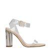 Transparante sandalen met hak