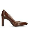 Escarpins en cuir croco - marron