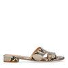 Schlangenmuster-Sandalen