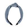 Blaues Plissee-Haarband