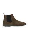 Khaki suède chelsea boots
