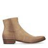 Beige suède western boots