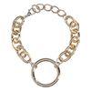Goldenes Gliederarmband mit Ring