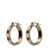 Goldene Ohrringe mit Perlen