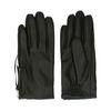 Zwarte leren handschoenen