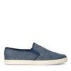 Blaue Canvas-Loafer mit gewobener Jute-Sohle