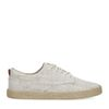 Beige canvas sneakers met print