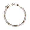 Bracelet avec perles plates - doré