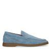 Lichtblauwe suède loafers