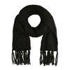 Zwarte gebreide sjaal