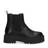 Chelsea boots basses en cuir avec semelle plateforme - noir
