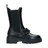 Zwarte chelsea boots met chain