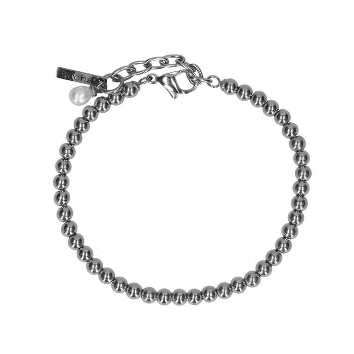 Bracelet avec petites boules - argenté