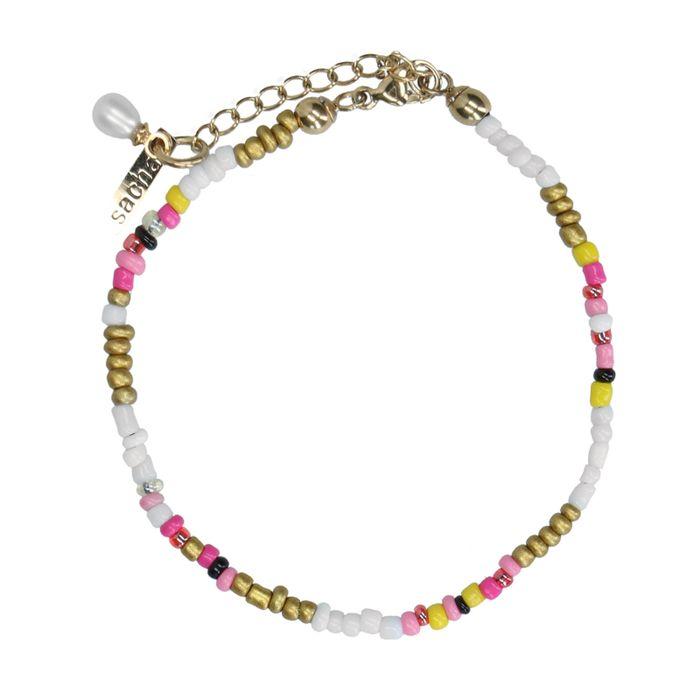 Bracelet avec perles - multicolore