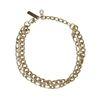Double bracelet maillons - doré