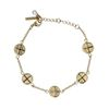 Bracelet avec petites pièces - doré