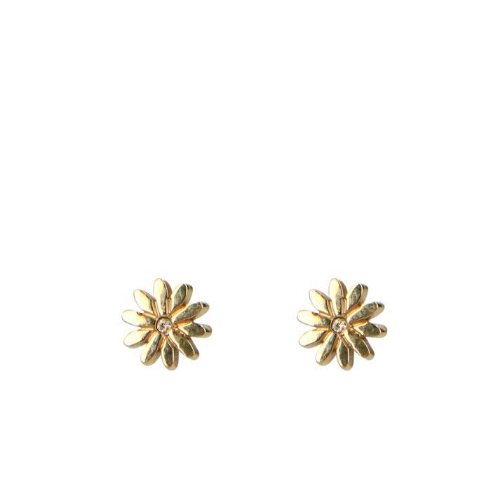 Boucles d'oreille avec marguerite - doré