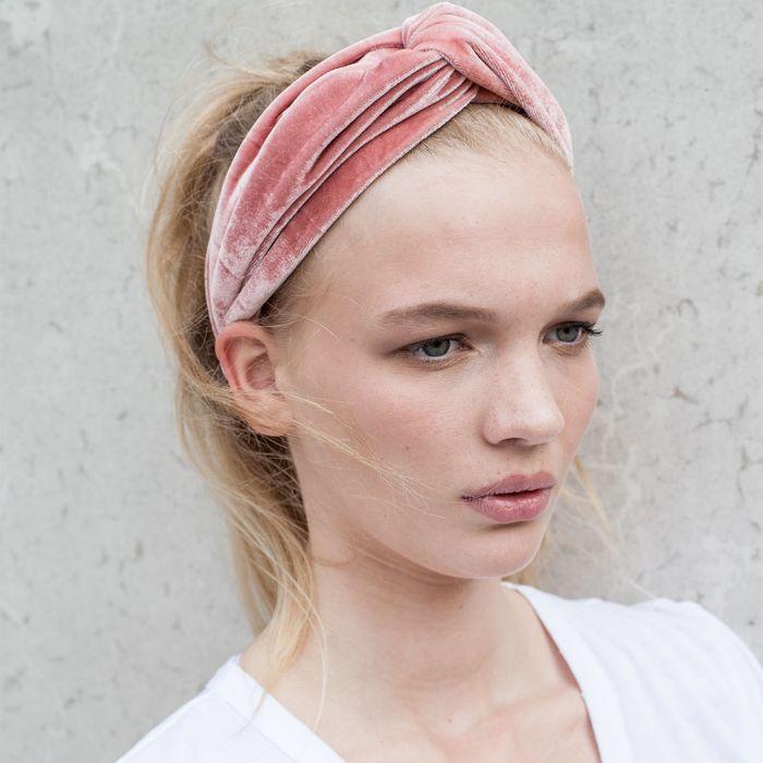 Samt-Haarband altrosé