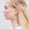 Boucles d'oreille géométriques argentées