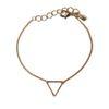 Bracelet doré avec triangle
