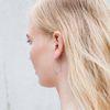 Boucles d'oreille traversantes argentées
