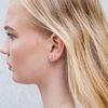 Boucles d'oreille avec petites boules et chaîne - argenté